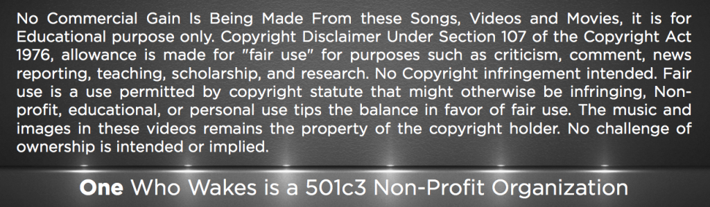 Copyright Disclimer